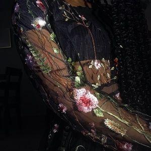 Sheer Floral Dress